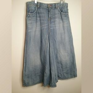 Vintage Tommy Hilfiger Long Modesty Denim Skirt
